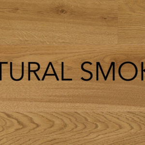 Natural smoked engineered oak flooring