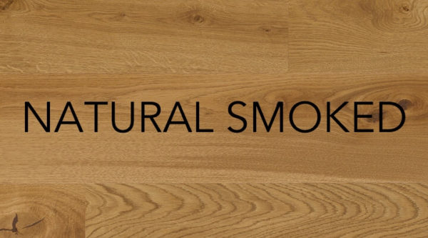 Natural smoked engineered oak flooring