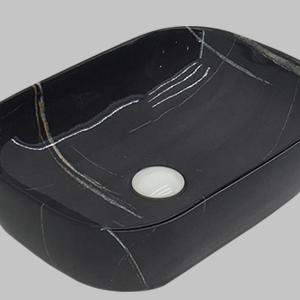 B0469B Gloss Black Marble Basin
