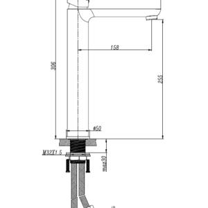 M73031C Black Basin Mixer
