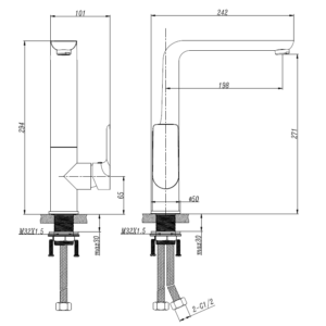 M73005SPB Black Kitchen Mixer