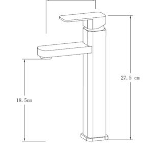 MCG4200 Chrome Basin Mixer