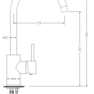 MHD4232 Chrome Kitchecn Mixer