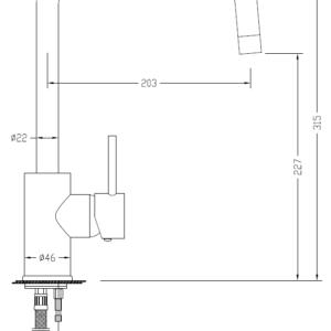 MHD4233 Chrome Kitchecn Mixer