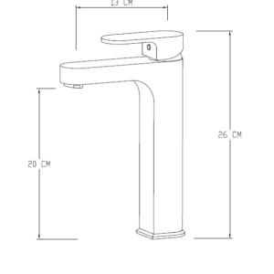 MHD4800 Chrome Basin Mixer