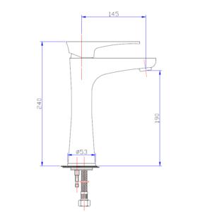MHD6501H Chrome Basin Mixer