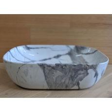 MQG10 Gloss White Marble Basin
