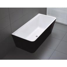 BTF1500 FLORENCE Back to Wall Bathtub in Black